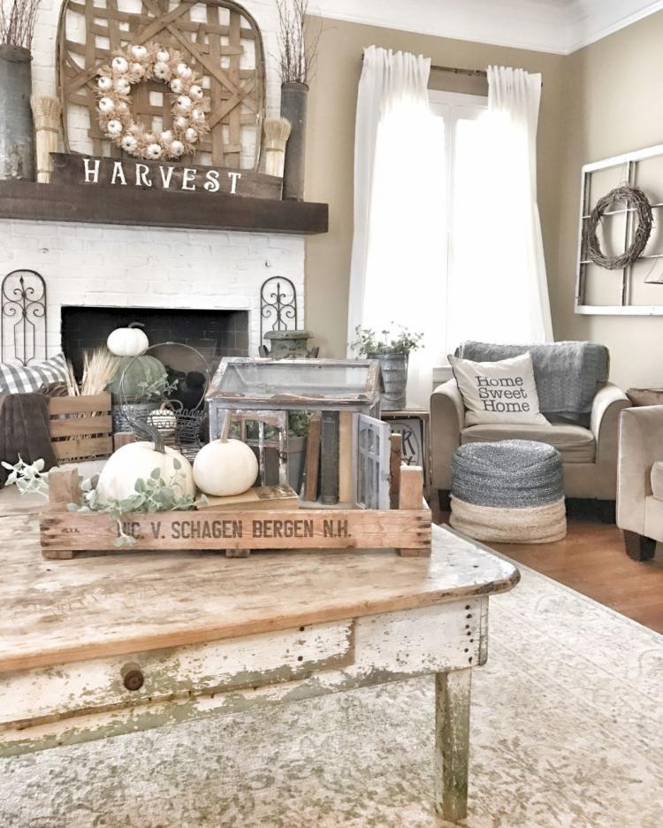 42 Wonderful Farmhouse Living Room Decor Ideas