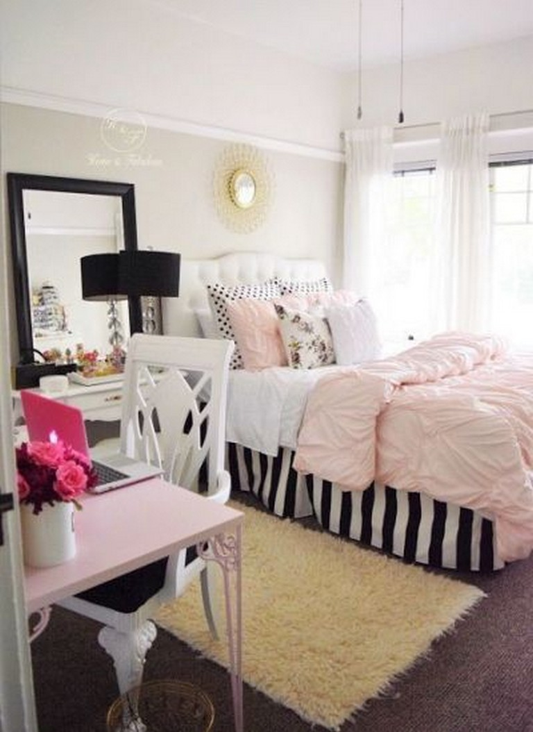 26+ Best Pink White And Gold Bedroom Ideas
